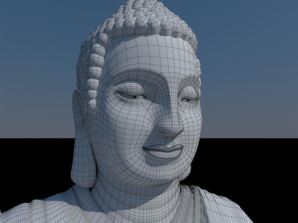 Tạo mẫu 3d tượng Phật